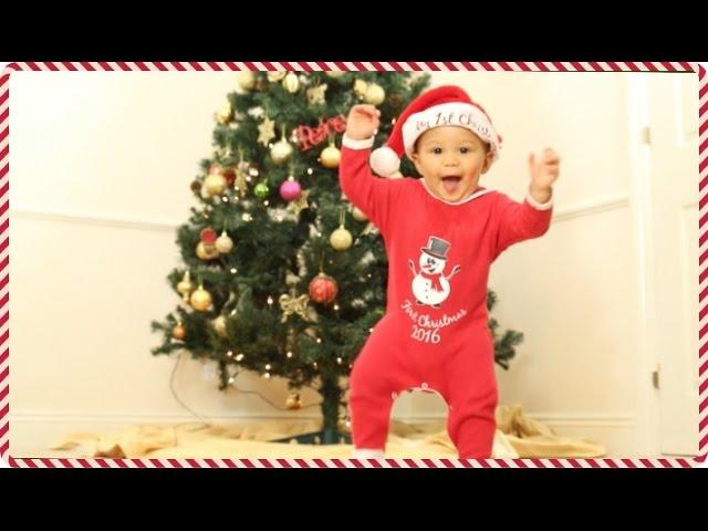 walking-at-9-months-baby-s-first-christmas-vlogmas-week-1-adannadavid