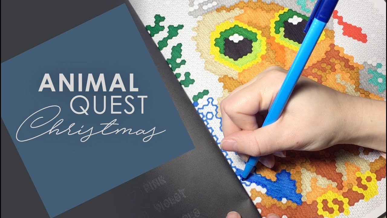 Animal Quest Christmas Color By Numbers By Sunlife Drawing | Speed ...