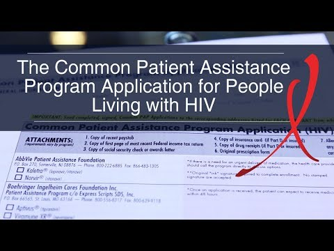 A Common Patient Assistance Program Application Form for HIV Medicine: Improved and Available