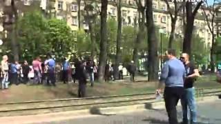 Эксклюзив: момент взрыва в Днепропетровске
