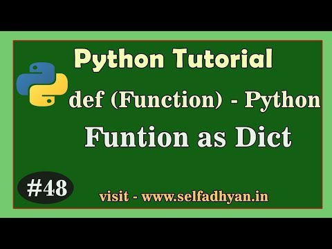 Python Function - Function as a Dict Data | Learn Python Tutorial in Hindi | Python for class 11 thumbnail