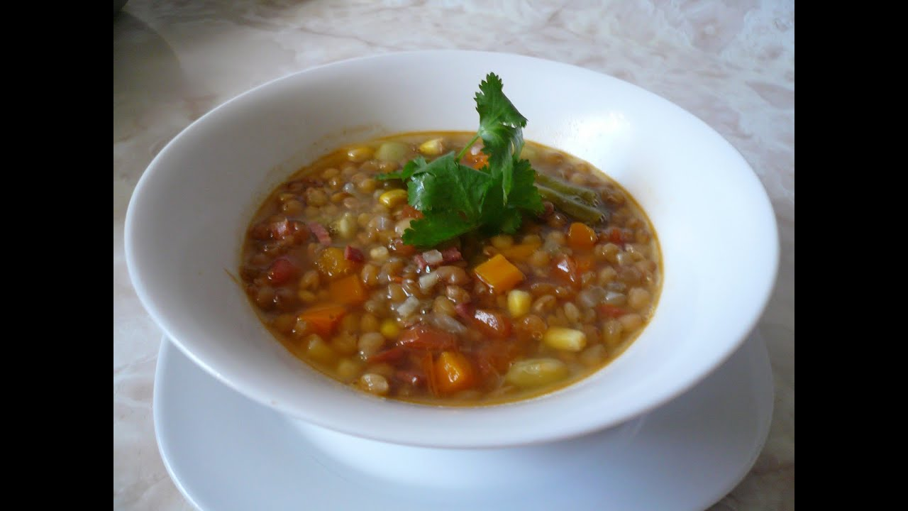 Receta de lentejas comida mexicana youtube - Hacer menestra de verduras ...