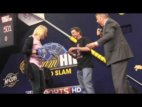 A wedding proposal at the William Hill Grand Slam of Darts