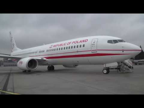 """Samolot B737 """"Józef Piłsudski"""" w Polsce"""