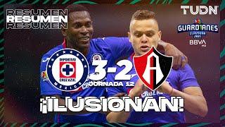 Resumen y goles   Cruz Azul 3-2 Atlas   Torneo Guard1anes 2021 BBVA MX J12   TUDN