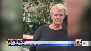 Woman's racist rant caught on camera