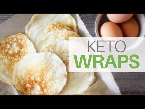 **3 NET CARBS** Coconut Flour Keto Wraps | Grain + Gluten + Dairy Free