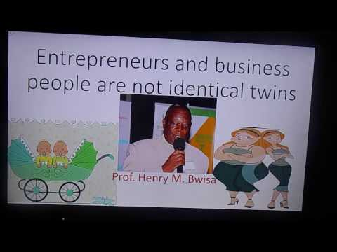 an entrepreneur and a business person are not identical twins