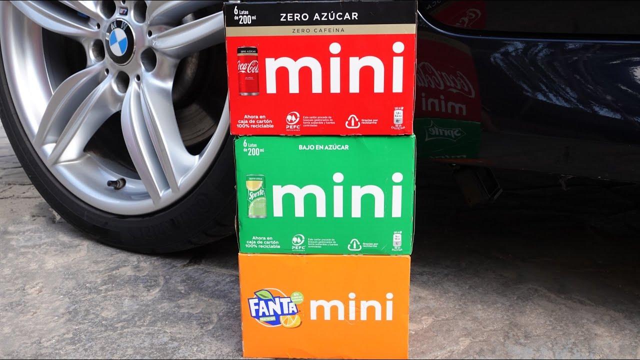Crushing Crunchy & Soft Things by Car! EXPERIMENT: CAR VS COLA FANTA SPRITE 3