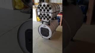 Double barrel shop stove