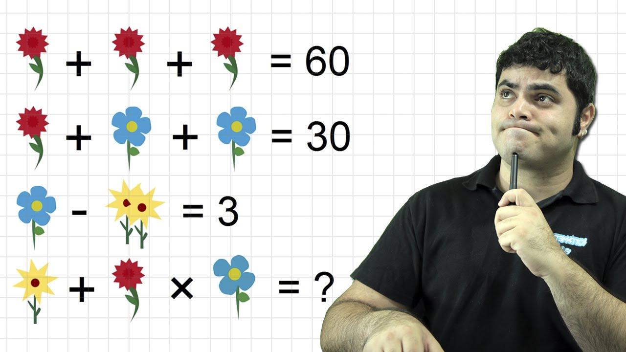 Voce Consegue Resolver O Problema Das Flores Matematica Rio Youtube