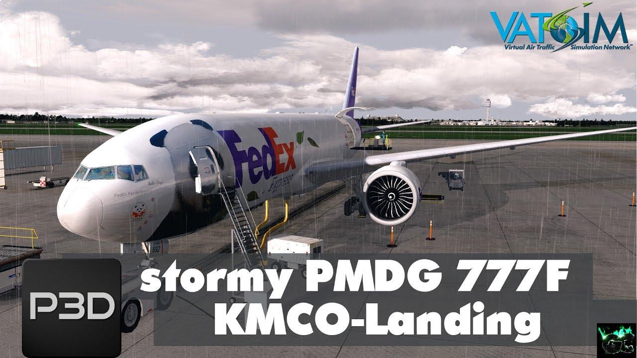 Prepar3d V4 | Stormy Landing @ Orlando KMCO | PMDG 777 F | Vatsim [HD] by  g4mingchr1s