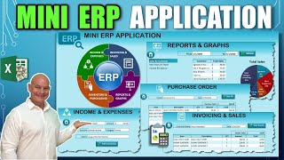 Learn How To Create This Mini ERP Application With Invoicing, Purchasing \u0026  Dashboard In Excel
