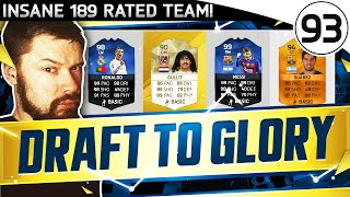 INSANE 189 RATED TEAM FUT DRAFT TO GLORY 93 - FIFA 16 Ultimate Team Gameplay