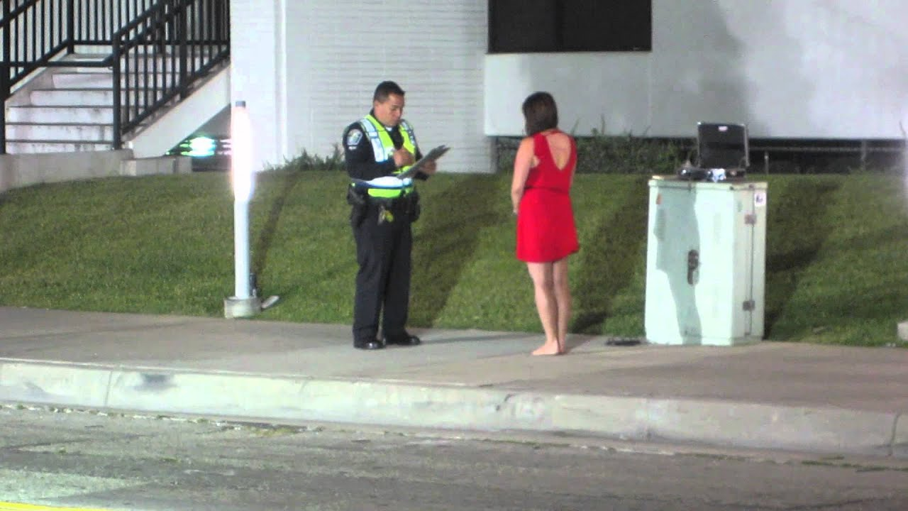 Barefoot Girl Arrested DUI