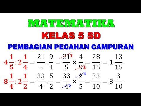 Matematika 5 Sd Pembagian Pecahan Campuran Dibagi Pecahan