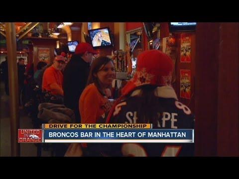 Broncos bar in the heart of Manhattan