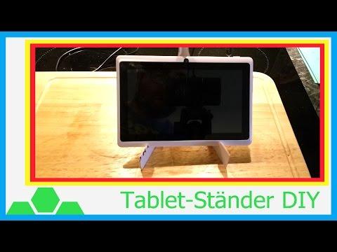 Tablet Ständer selber nachbauen - Tutorial (4k - UHDTV - 2160p)