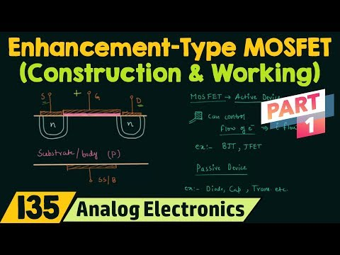Construction & Working of Enhancement-Type MOSFET (Part 1)