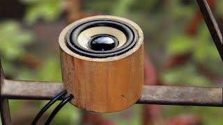 How to make a mini Speaker Using Bamboo