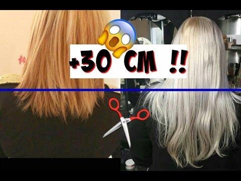 Pousse cheveux cm par mois