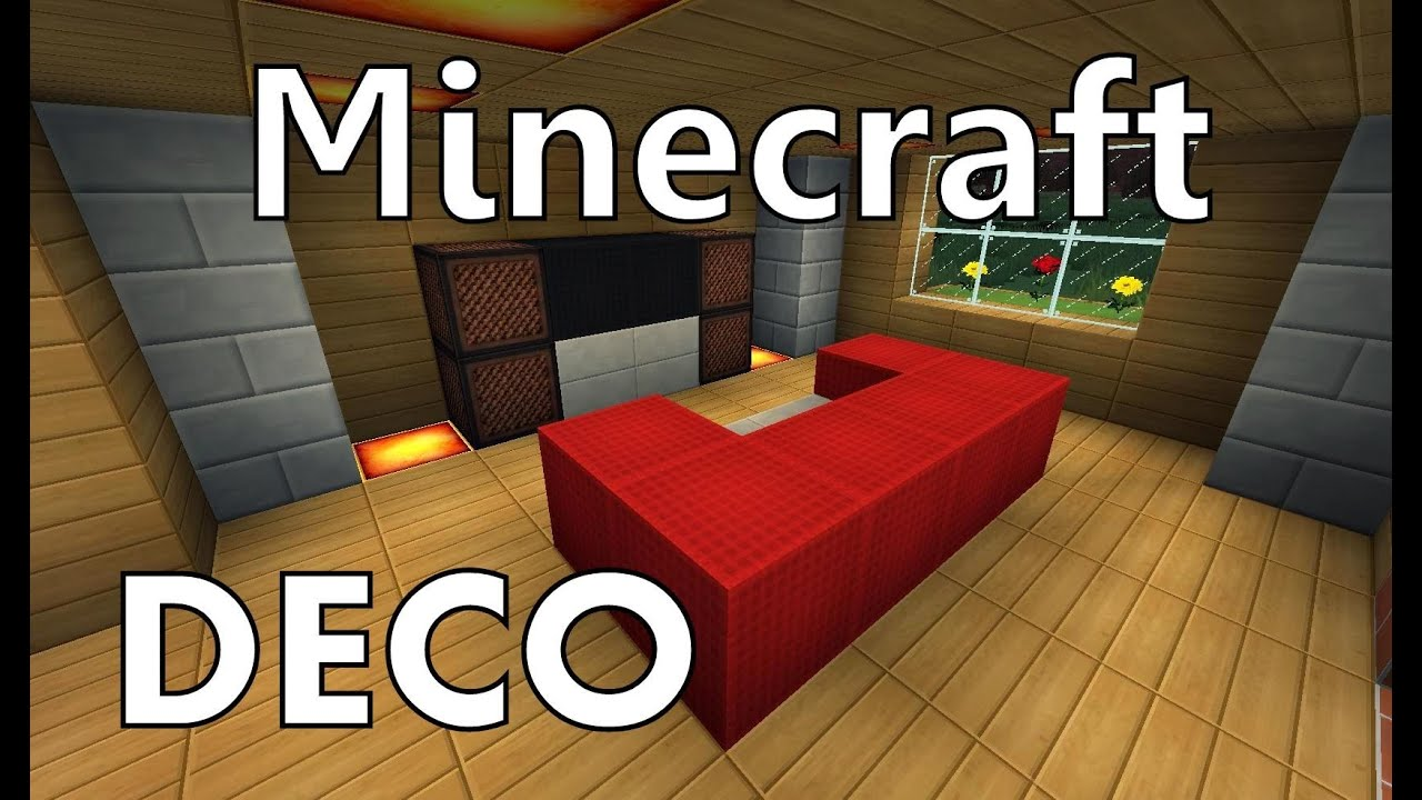 minecraft comment cr er un beau salon youtube. Black Bedroom Furniture Sets. Home Design Ideas