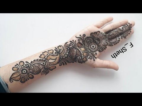 front simple mehndi designs for hands