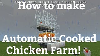 How to make Automatic Cooked Chicken farm in Minecraft PE
