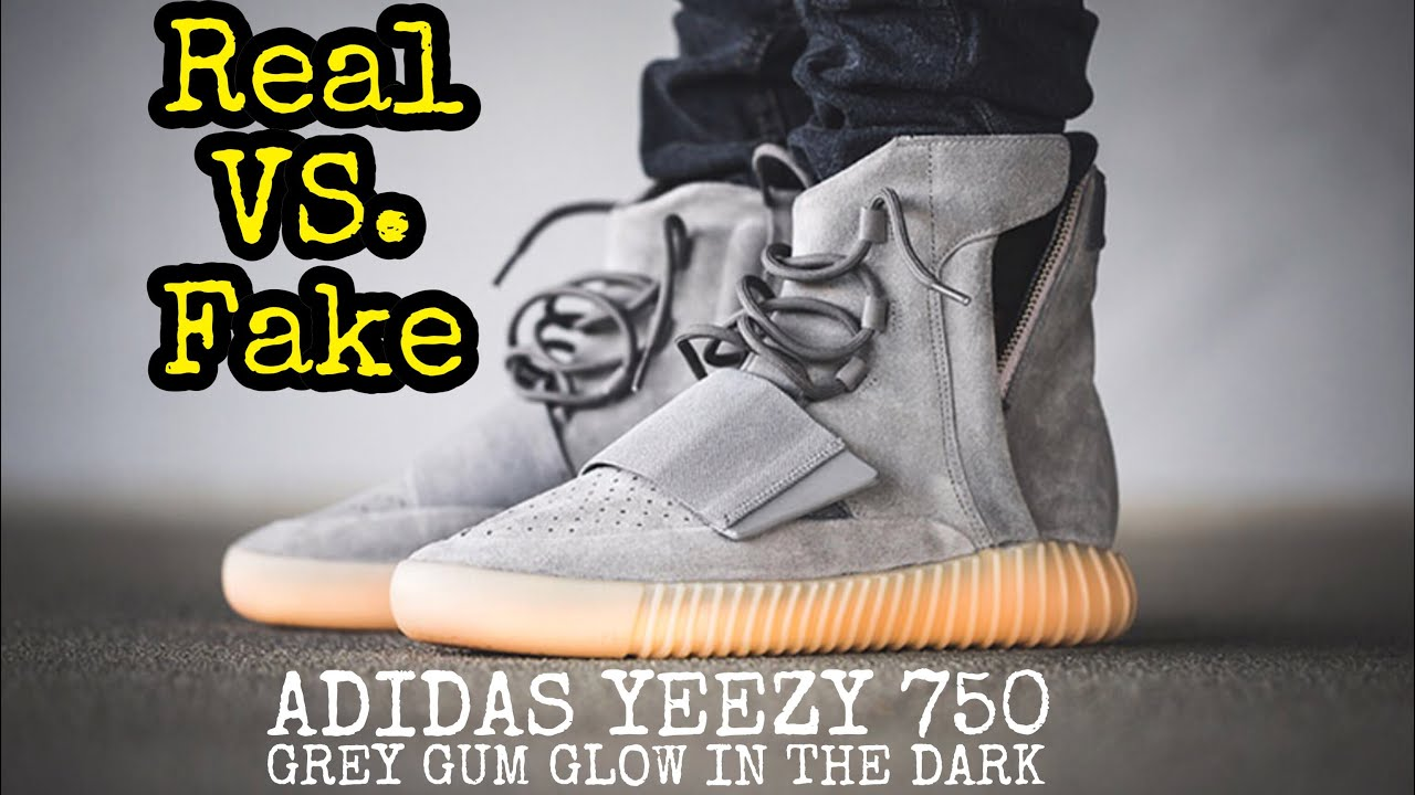 "70d256fd3b9c BEST Real vs. Fake    Yeezy 750 ""Grey Gum"" - YouTube"