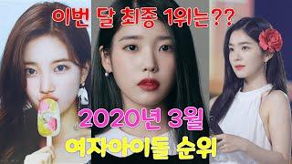 2020년 3월 여자아이돌 순위 !!