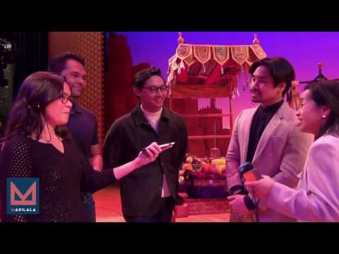 Makilala TV (Ep44)  interviews the cast of 'Aladdin' on Broadway