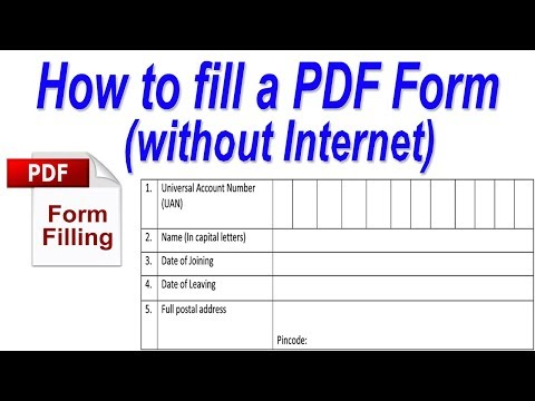 How To Fill A PDF Form (Edit PDF File)