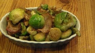 Balsamic Brussels Sprouts With Bacon And Walnuts