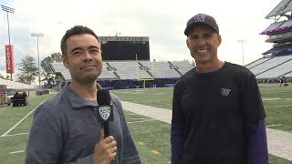 Washington football's Chris Petersen on Jake Browning's play: 'He does some really good things'