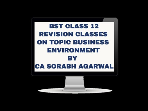 BST/COMMERCE REVISION CLASS 12 CH BUSINESS ENVIRONMENT BY CA SORABH AGARWAL