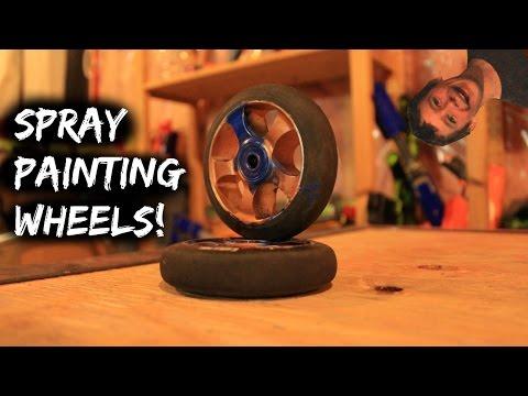 SPRAY PAINTING WHEELS!