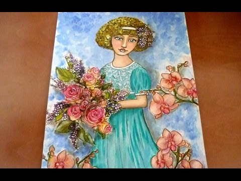 ❤ Mixed Media Painting - Flora - for #WeLoveMay