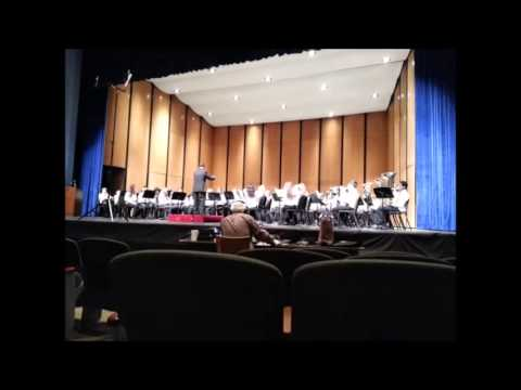 Edgar Martin Middle School band, March 2014