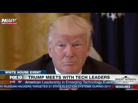 FNN: President Trump Meets with Tech Leaders at American Leadership in Emerging Technology Meeting