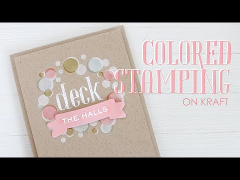 Colored Stamping On Kraft