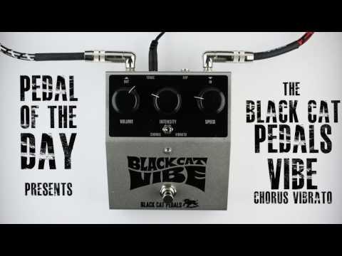 Black Cat Pedals Vibe Chorus Vibrato Guitar Effects Pedal Demo Video