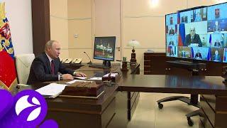 Владимир Путин отметил улучшение ситуации с коронавирусом в России