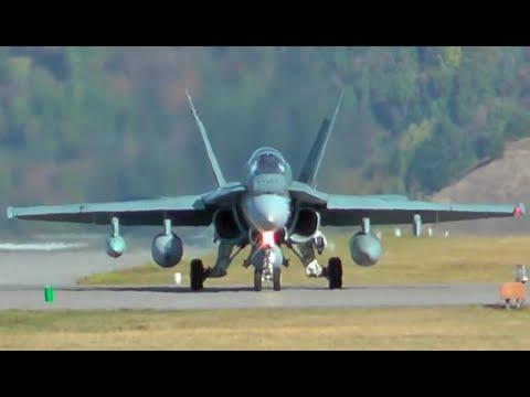 F-18 Hornet Takeoff from Castlegar, British Columbia CYCG