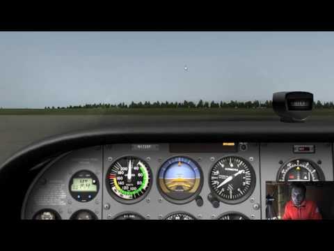 XPlane 10 - Flight 6 - EDFH Frankfurt - Hahn Airport - Circuits With Real Radio Calls - IVAO