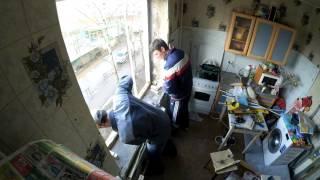 Установка пластикового окна - кухня - панелька.(, 2016-04-16T09:45:42.000Z)
