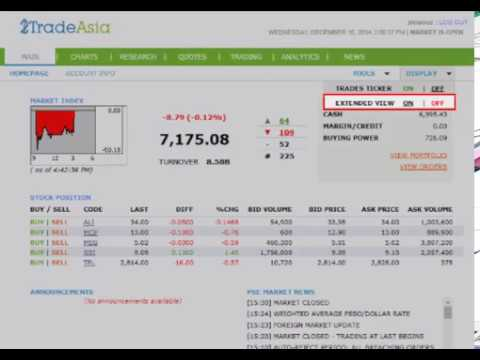 2TradeAsia's stock trading website at a glance