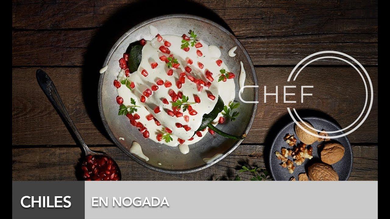 Chef oropeza receta chiles en nogada