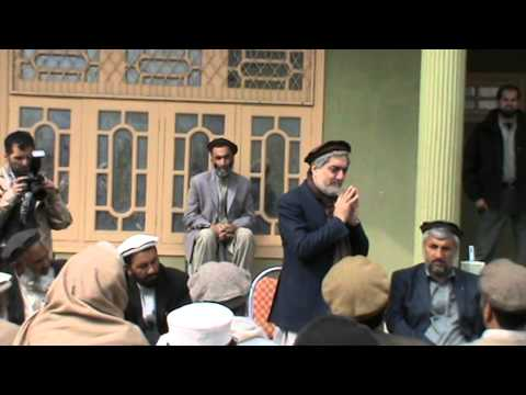 Dr Abdullah Abdullah along with his supporters in Jalalabad.