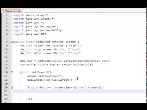 Java Tutorial -How to add sound to a java program