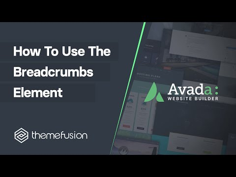 How To Use The Breadcrumbs Element Video